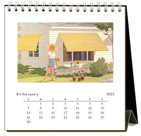 Found Image Press Desk Calendar, In the Garden, 2021
