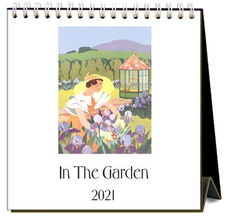 Found Image Press Desk Calendar, In the Garden, 2021 - Laywine's