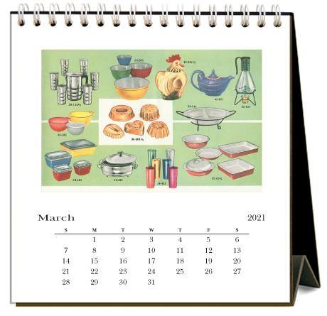 Found Image Press Desk Calendar, In the Kitchen, 2021