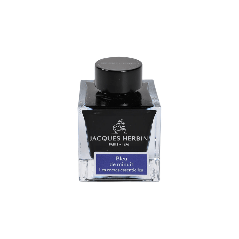 Jacques Herbin Bleu de Minuit Ink Bottle 50ml - Laywine's