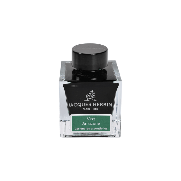 Jacques Herbin Vert Amazone Ink Bottle 50ml - Laywine's
