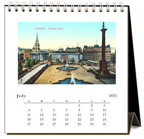 Found Image Press Desk Calendar, London, 2021