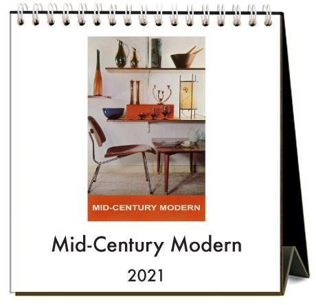 Found Image Press Desk Calendar, Mid-Century Modern, 2021