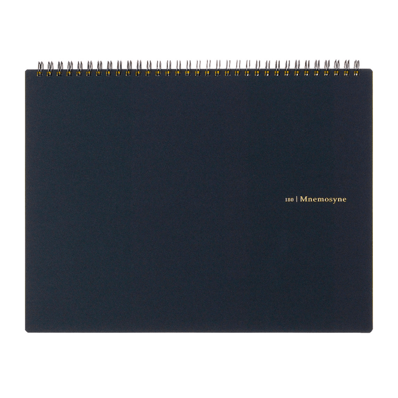 Mnemosyne A4 Wiro Notebook 5mm Grid - Laywine's