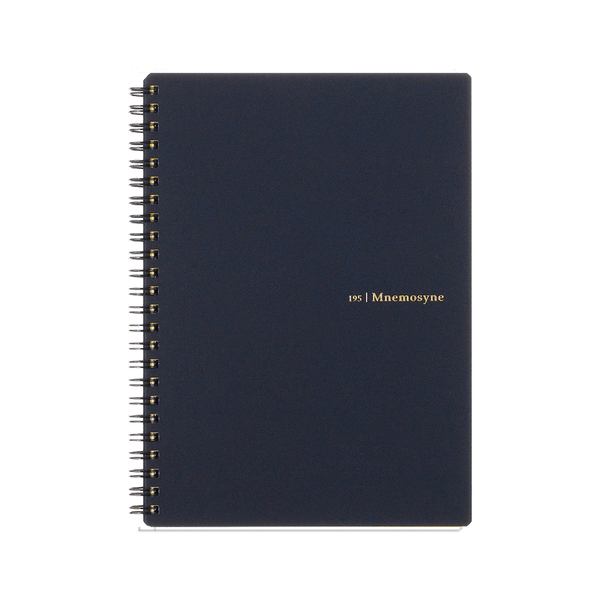 Mnemosyne A5 Wiro Notebook 7mm Lined - Laywine's