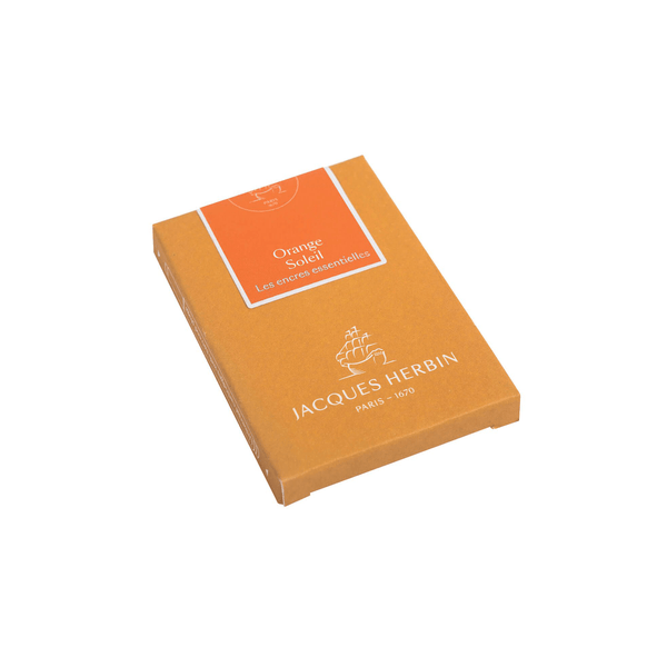 Jacques Herbin Orange Soleil Ink Cartridges - Laywine's