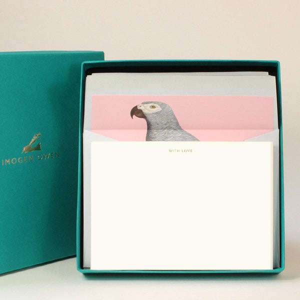 Imogen Owen Boxed Luxury Correspondence Parrot With Love - Laywine's
