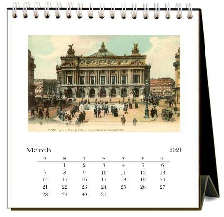Found Image Press Desk Calendar, Paris, 2021 - Laywine's