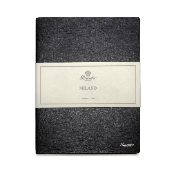 Pineider Milano Leather Laid Notebook Large - Laywine's