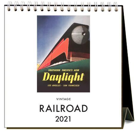 Found Image Press Desk Calendar, Railroad, 2021