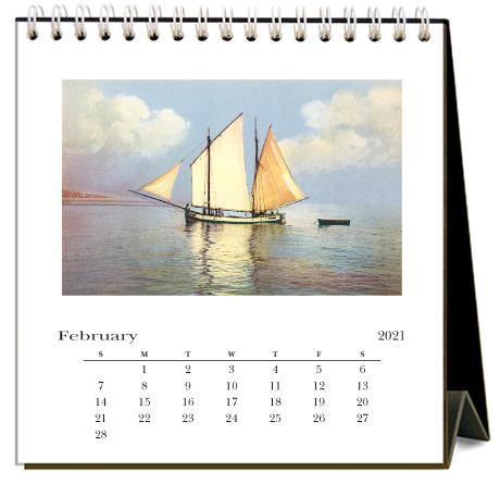 Found Image Press Desk Calendar, Sailing, 2021