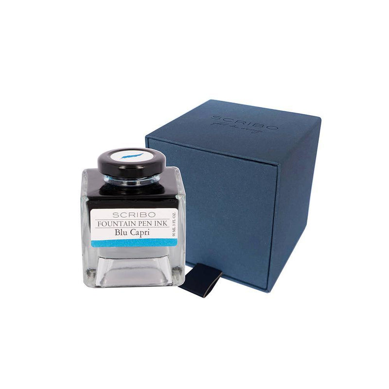 Scribo Blu Capri Ink Bottle 90ml - Laywine's