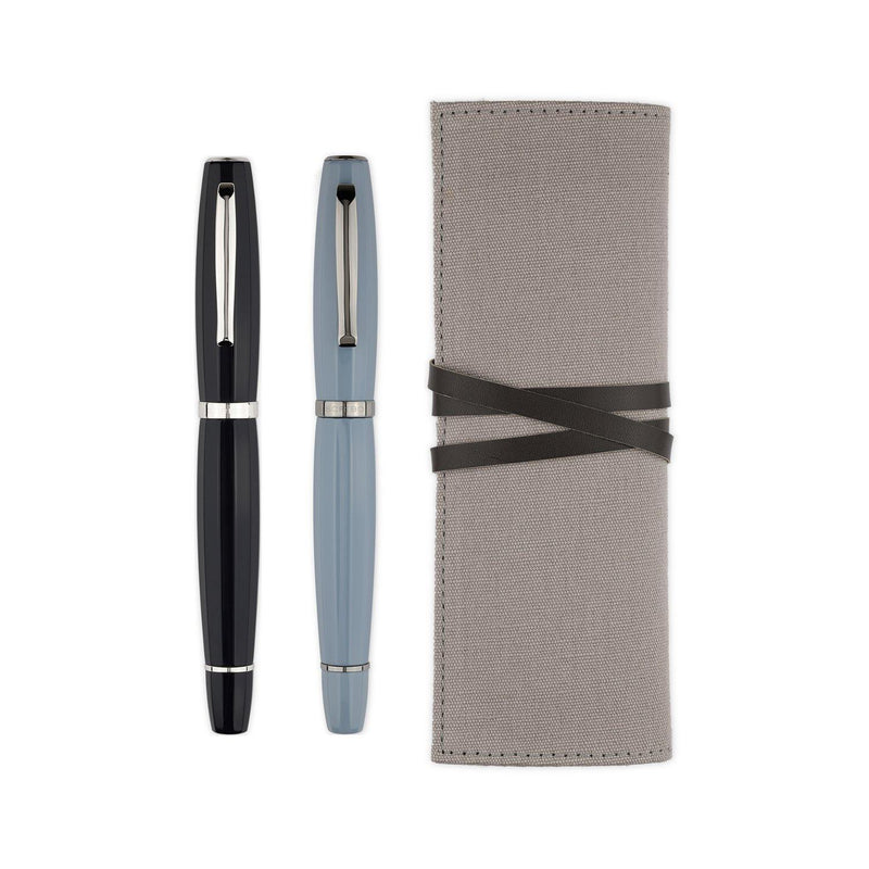Scribo Feel Blue Black Fountain Pen - Laywine's