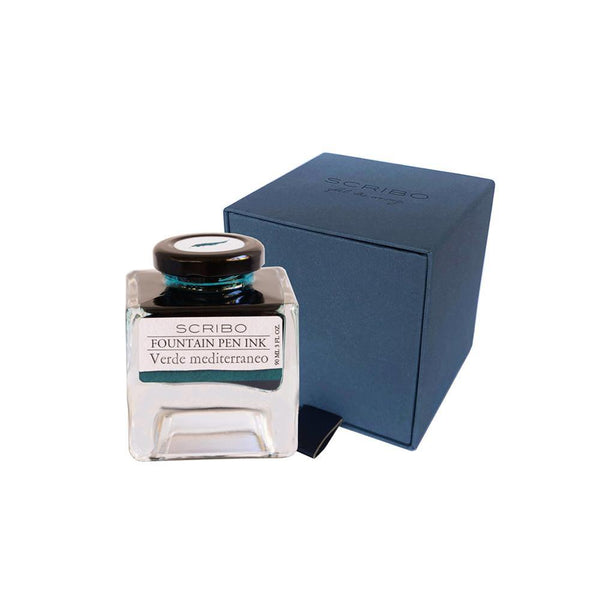 Scribo Verde Mediterraneo Ink Bottle 90ml - Laywine's
