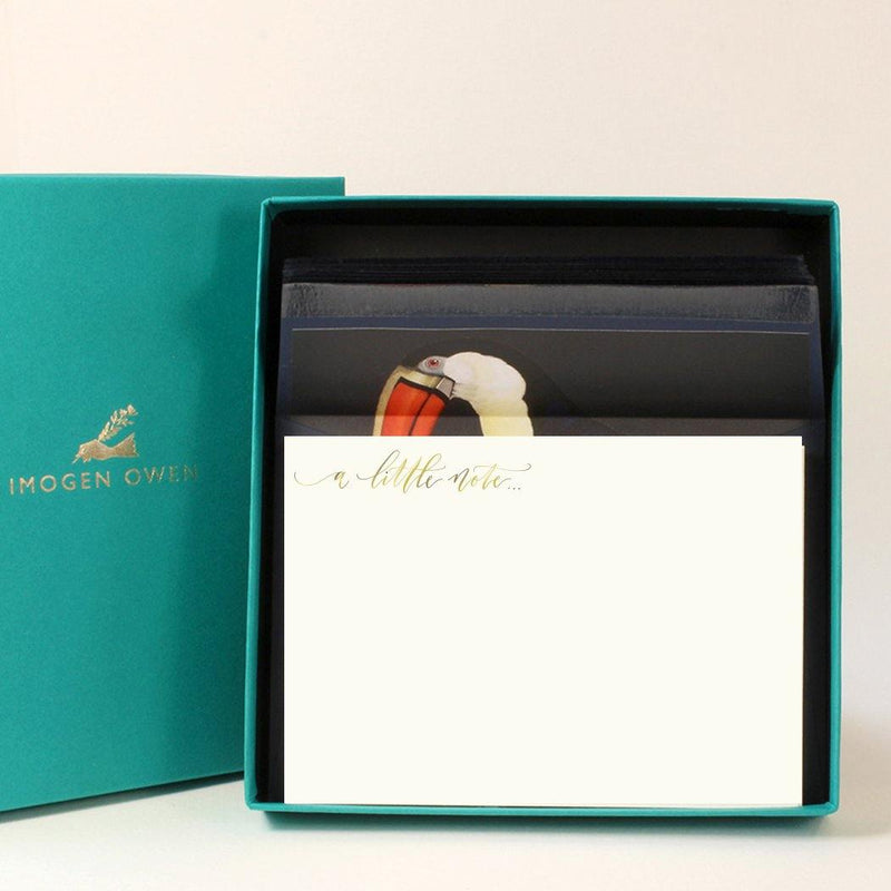 Imogen Owen Boxed Luxury Correspondence Toucan A Little Note - Laywine's