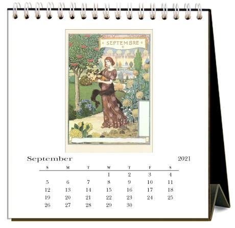 Found Image Press Desk Calendar, The Months, 2021 - Laywine's