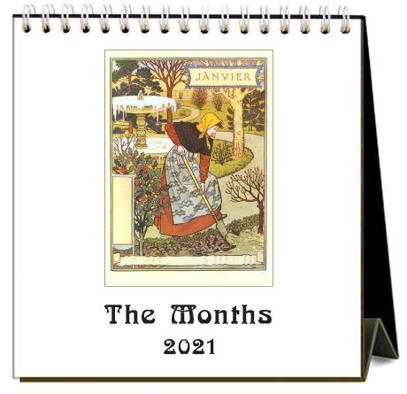 Found Image Press Desk Calendar, The Months, 2021