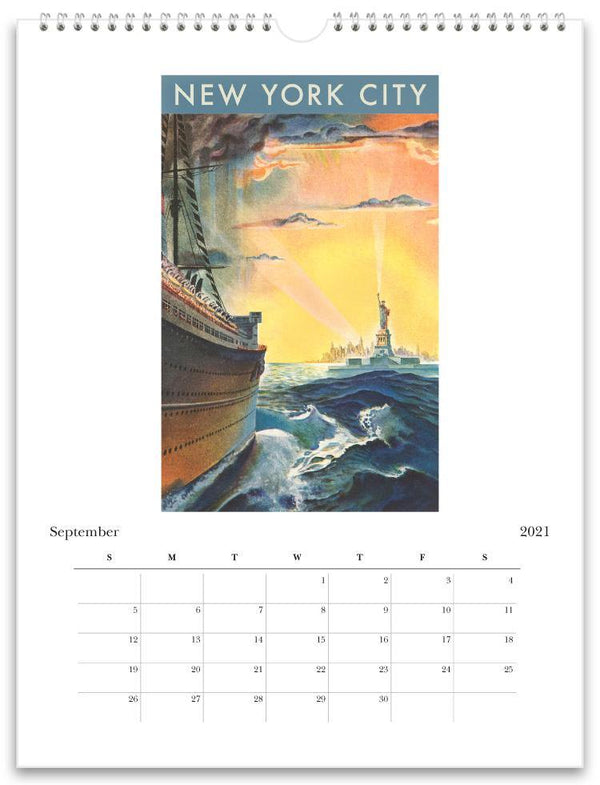 Found Image Press Wall Calendar, New York City, 2021