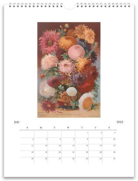 Found Image Press Wall Calendar, Flowers, 2021