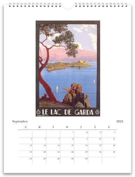 Found Image Press Wall Calendar, Italy, 2021