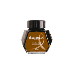 Waterman Absolute Brown Ink Bottle 50ml - Laywine's