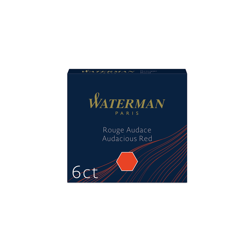 Waterman Audacious Red Ink Cartridges - Laywine's