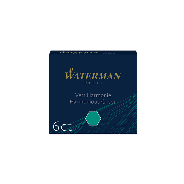Waterman Harmonious Green Ink Cartridges - Laywine's