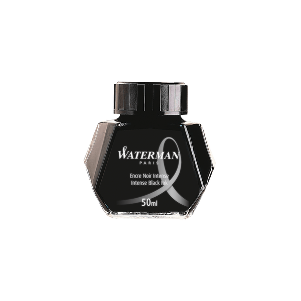 Waterman Intense Black Ink Bottle 50ml - Laywine's