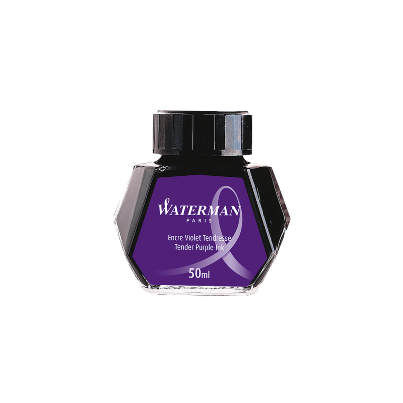Waterman Tender Purple Ink Bottle 50ml - Laywine's