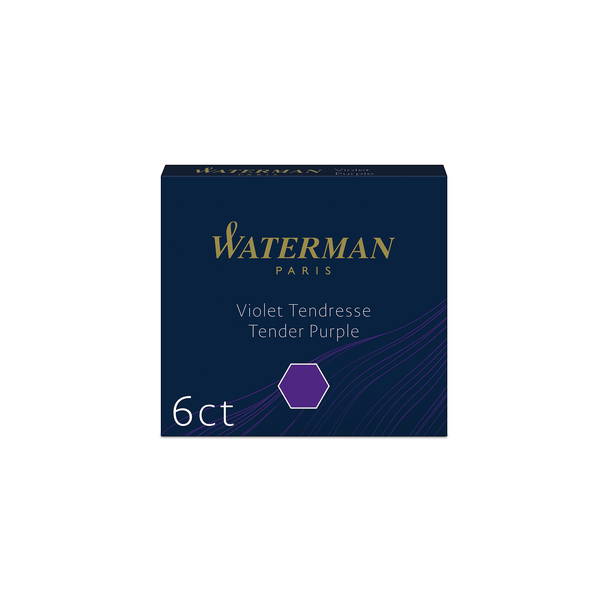 Waterman Tender Purple Ink Cartridges - Laywine's