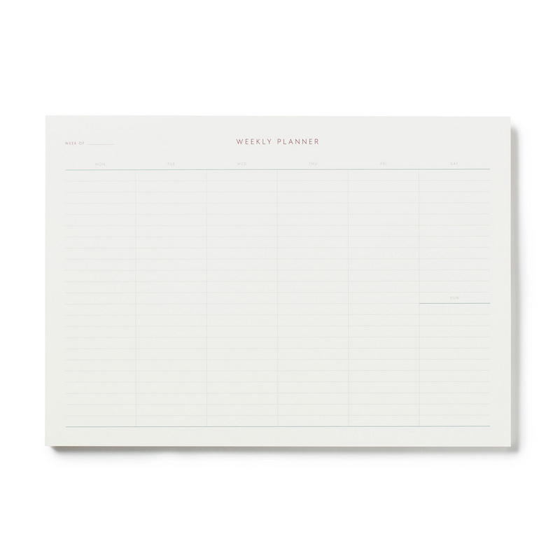 Kartotek Weekly Planner A4 Notepad Rose