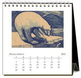 Found Image Press Desk Calendar, Wildlife, 2021 - Laywine's