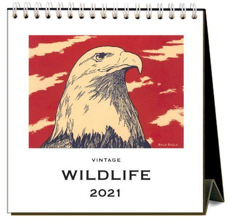 Found Image Press Desk Calendar, Wildlife, 2021