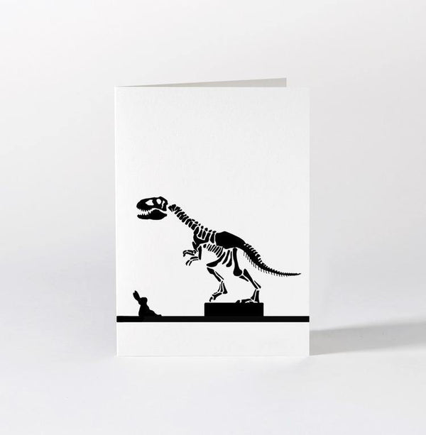 HAM Dinosaur Rabbit Card