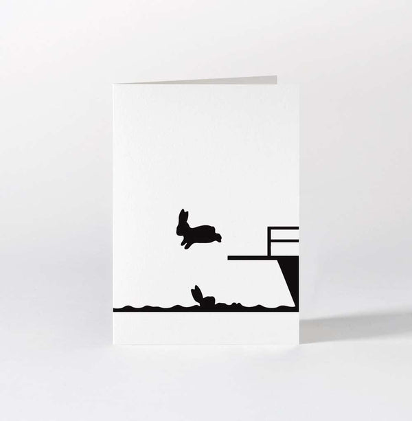 HAM Diving Rabbit Card