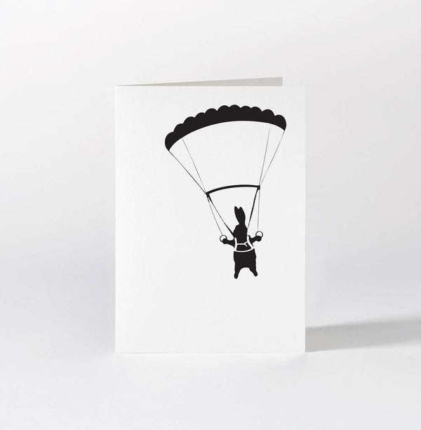 HAM Parachute Rabbit Card