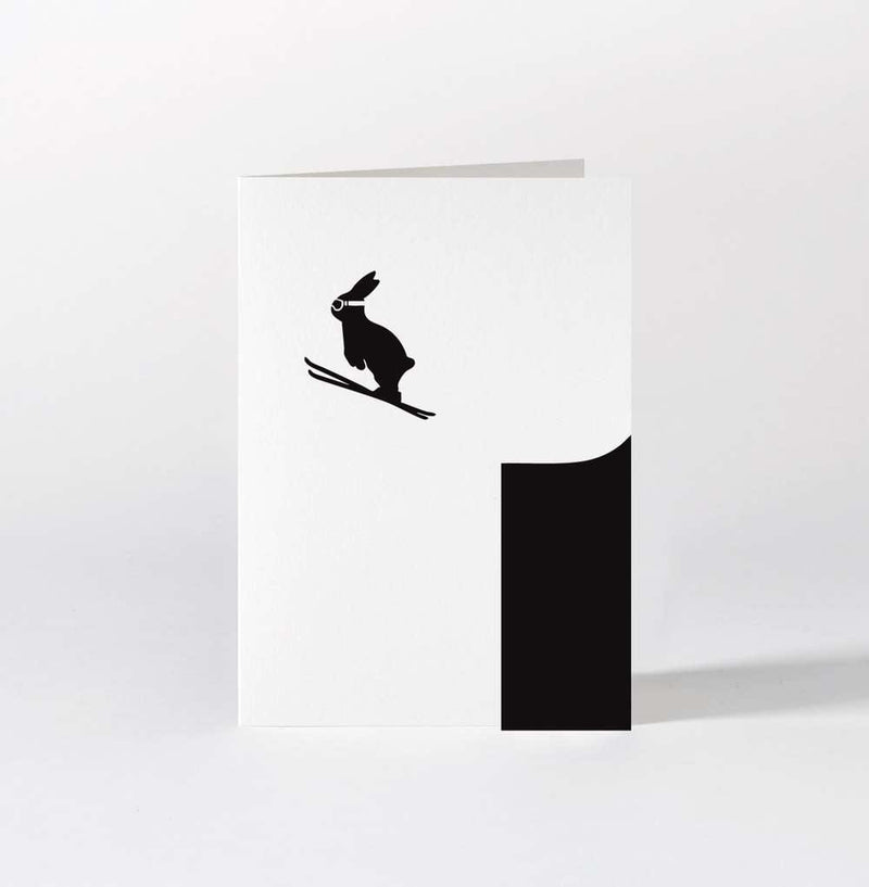 HAM Ski Jumping Rabbit Card