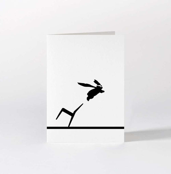 HAM Superhero Rabbit Card