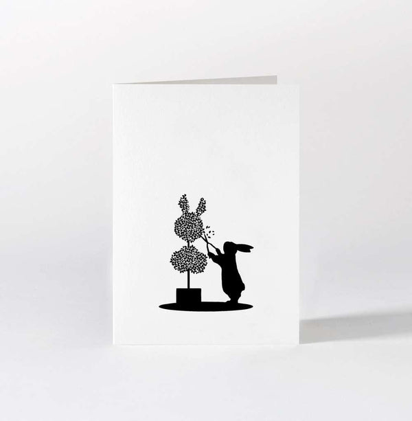 HAM Topiary Rabbit Card
