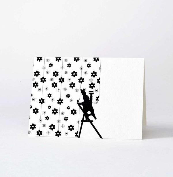 HAM Wallpapering Rabbit Card - Laywine's
