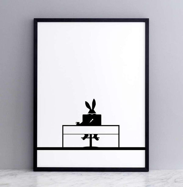 HAM Working Rabbit Print - Laywine's