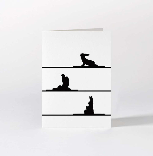 HAM Yoga Rabbit Card