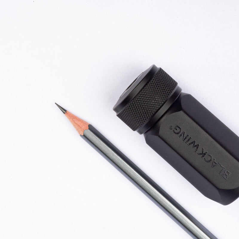 Blackwing ONE-STEP Long Point Sharpener Black - Laywine's