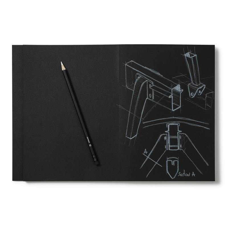 Cinqpoints Archiblack Sketchbook and White Pencil - Laywine's