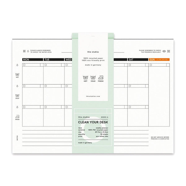 thie studios Clean Your Desk Week Planner - Laywine's