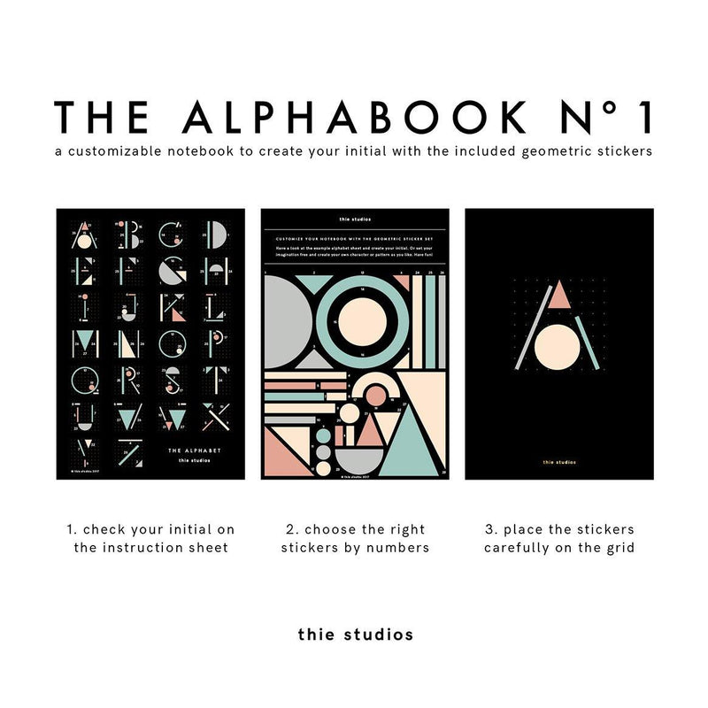 thie studios The Alphabook Notebook - Laywine's