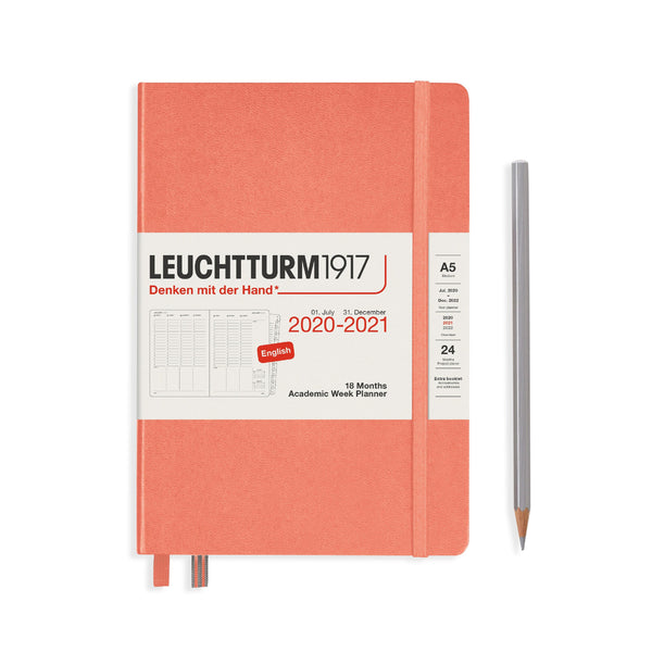 Leuchtturm Academic Week Planner, Medium, 18 Months, 2020-2021 - Laywine's