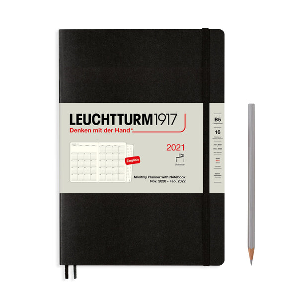 Leuchtturm Monthly Planner and Notebook Composition Softcover 2021 - Laywine's