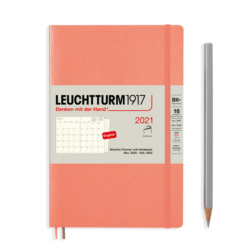 Leuchtturm Monthly Planner and Notebook Paperback 2021 - Laywine's