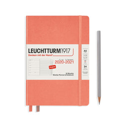 Leuchtturm Weekly Planner and Notebook Medium Hardcover, 18 Months, 2020-2021 - Laywine's